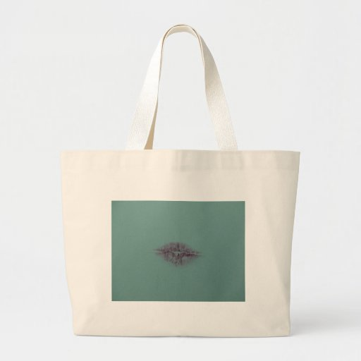 Kiss Lips Lipstick Canvas Bag