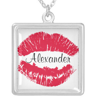 Kiss Lipstick Kiss Mark Personalized Necklace