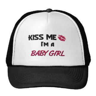 Kiss Me Baby Girl Trucker Hats