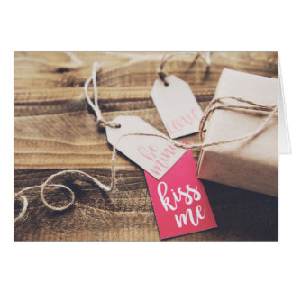 Kiss me, be mine, valentine's card