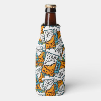 kiss me - beer icon bottle cooler