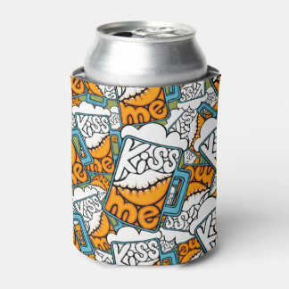kiss me - beer icon can cooler