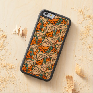 kiss me - beer icon carved cherry iPhone 6 bumper case