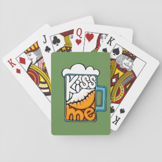 kiss me - beer icon playing cards