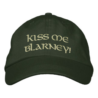 Kiss Me Blarney Embroidered Hat