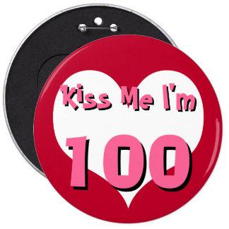 Kiss Me Button - 100