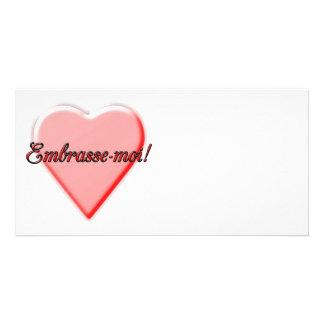 Kiss Me card Customised Photo Card