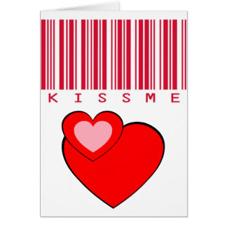 Kiss Me Crimson barcode #1 Crop Card