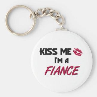Kiss Me Fiance Basic Round Button Key Ring
