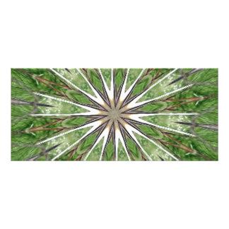 Kiss Me for Good Luck Star Burst Kaleidoscope Rack Card Design