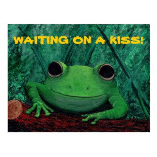 KISS ME! (Frog Design) ~ Postcard