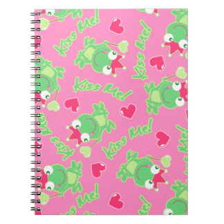 Kiss me frog notebook