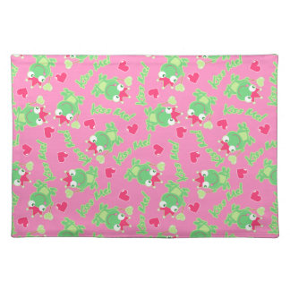 Kiss me frog placemat