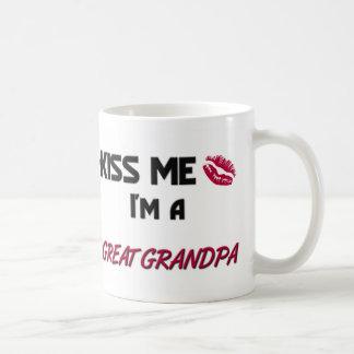 Kiss Me Great Grandpa Basic White Mug