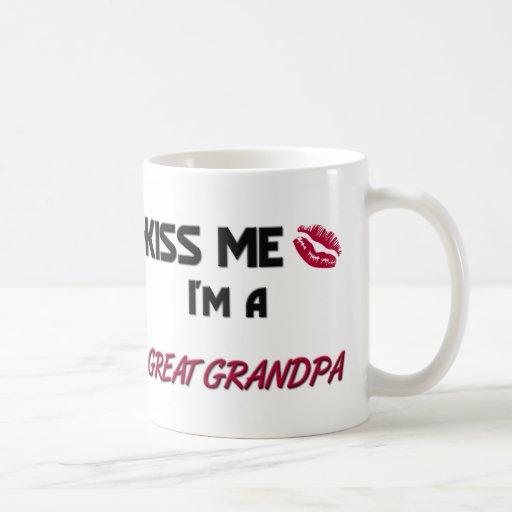 Kiss Me Great Grandpa Mugs
