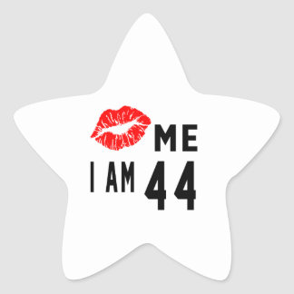 Kiss Me I Am 44 Star Sticker