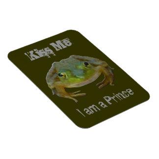 Kiss Me I am a Prince Frog Magnet