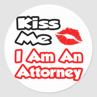 Kiss Me...I Am An Attorney Sticker