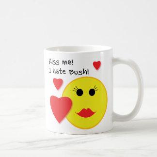 Kiss Me I Hate Bush Coffee Mug