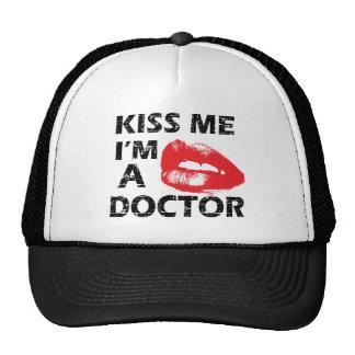 Kiss me i m a doctor trucker hat