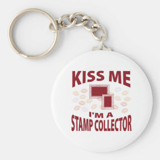 Kiss Me I m A Stamp Collector Keychain