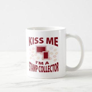 Kiss Me I m A Stamp Collector Coffee Mug