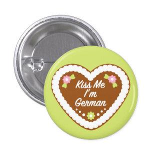 Kiss Me I m German Gingerbread Heart Pin