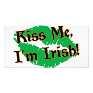 Kiss Me I m Irish Personalized Photo Card