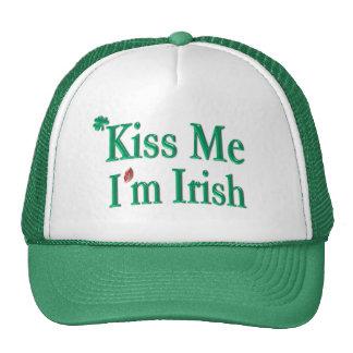 Kiss Me I'm Irish - Saint Patricks Day Mesh Hat