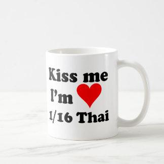Kiss Me I'm 1/16 Thai Coffee Mug
