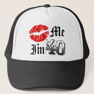 Kiss Me I'm 40 novelty item Trucker Hat