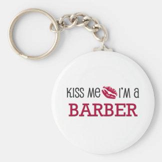 Kiss Me I'm a BARBER Key Ring