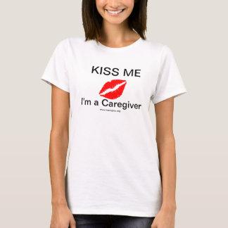 Kiss Me I'm a Caregiver Women's T-Shirt