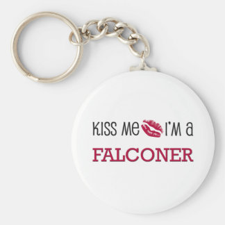 Kiss Me I'm a FALCONER Basic Round Button Key Ring