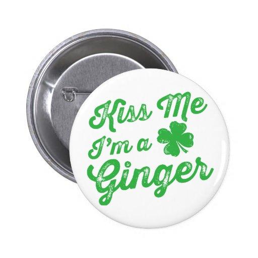 Kiss Me I'm a Ginger! Pins