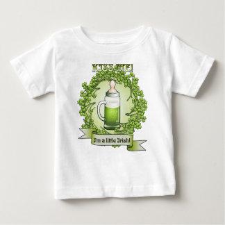 Kiss Me Im A Little Irish Funny Baby T-shirt