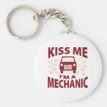Kiss Me I'm A Mechanic Keychains