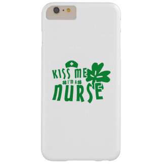 Kiss Me I'm A Nurse St. Patrick's Day Barely There iPhone 6 Plus Case