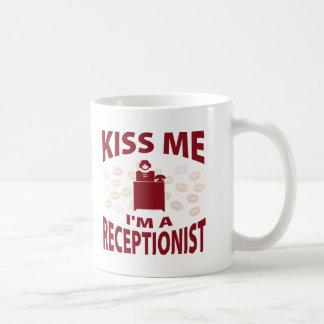 Kiss Me I'm A Receptionist Coffee Mug