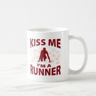 Kiss Me I'm A Runner Mugs