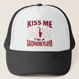 Kiss Me I'm A Saxophone Player Trucker Hat