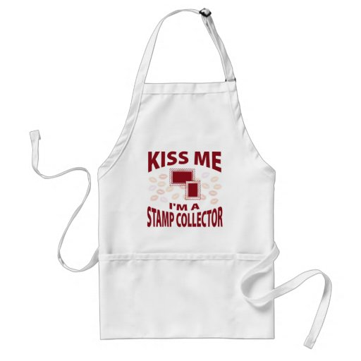 Kiss Me I'm A Stamp Collector Apron