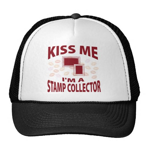 Kiss Me I'm A Stamp Collector Mesh Hats