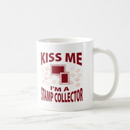 Kiss Me I'm A Stamp Collector Coffee Mug