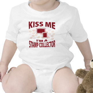 Kiss Me I'm A Stamp Collector Tee Shirt