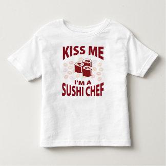 Kiss Me I'm A Sushi Chef Toddler T-Shirt