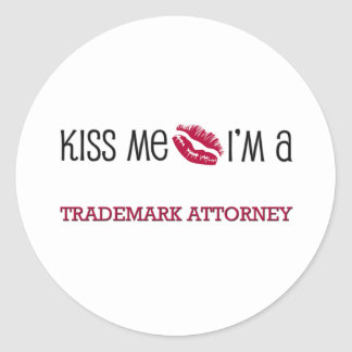 Kiss Me I'm a TRADEMARK ATTORNEY Stickers