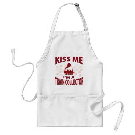 Kiss Me I'm A Train Collector Aprons