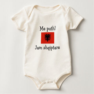 Kiss Me! I'm Albanian (girl) Baby Bodysuit