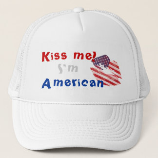 Kiss me I'm American Trucker Hat